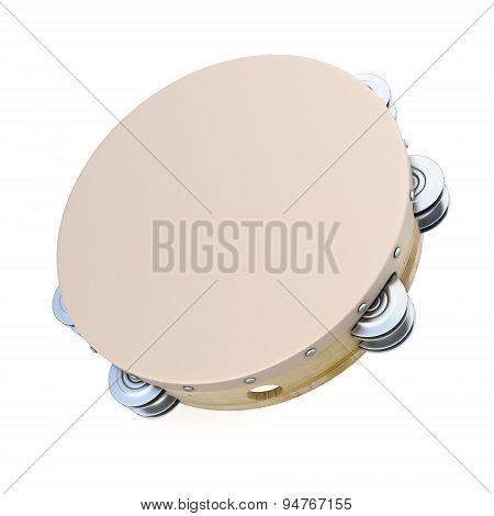 Tambourine On White Background