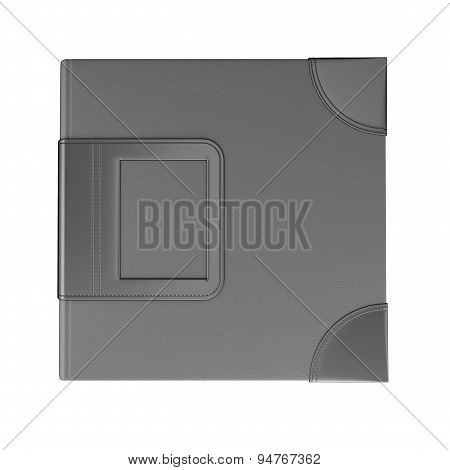 Template Cover Black Photo Album