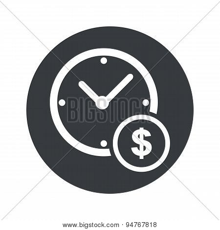 Round time is money icon