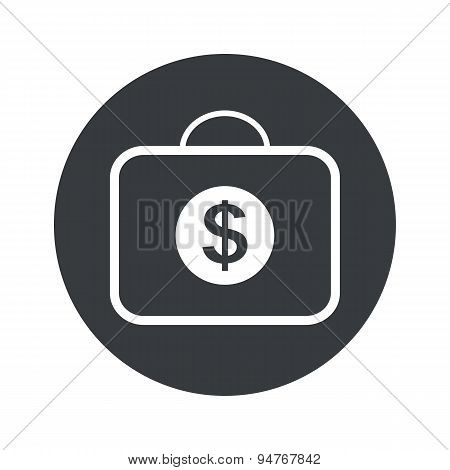 Monochrome round dollar bag icon