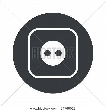 Monochrome round socket icon