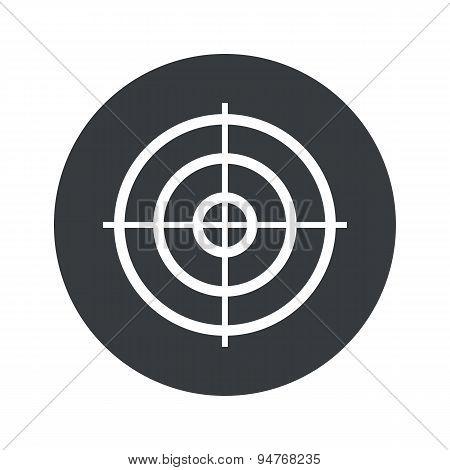 Monochrome round aim icon
