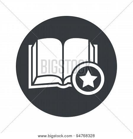 Monochrome round favorite book icon