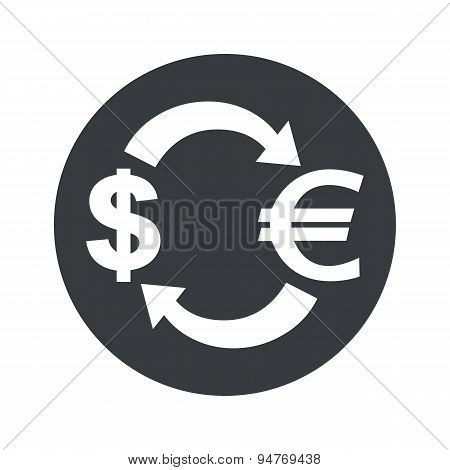 Monochrome dollar euro exchange icon