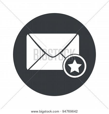 Monochrome round favorite letter icon