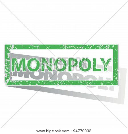 Green outlined MONOPOLY stamp