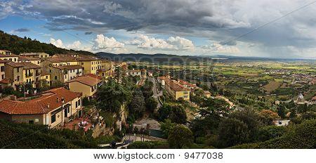 Panoramic view of Cortona