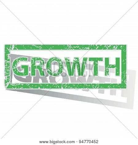 Green outlined GROWTH stamp