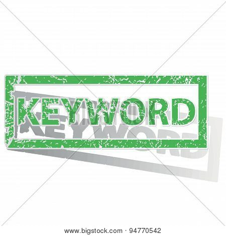 Green outlined KEYWORD stamp