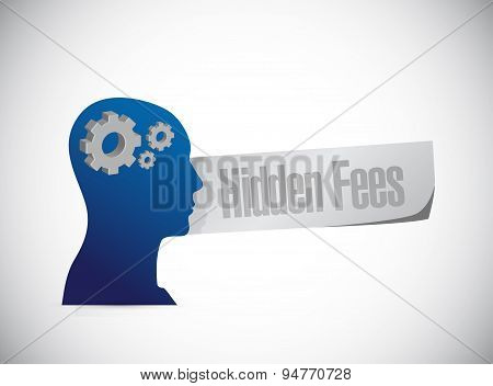 Hidden Fees People Sign Concept