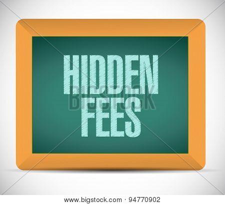 Hidden Fees Board Sign Concept Illustration