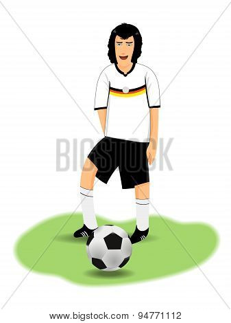Cartoon Soccer Characte, Vector Clipart Illustration