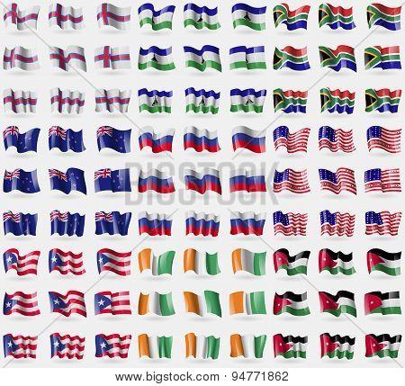 Faroe Islands, Lesothe, South Africa, New Zeland, Russia, Bikini Atoll, Puerto Rico, Cote D'ivoi