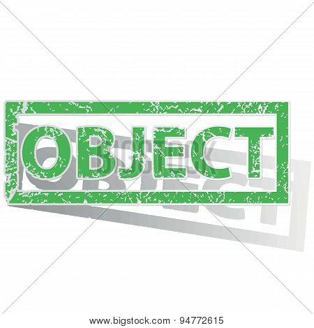 Green outlined OBJECT stamp