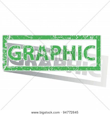 Green outlined GRAPHIC stamp