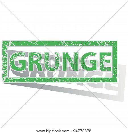 Green outlined GRUNGE stamp