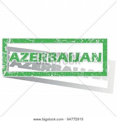 Green outlined Azerbaijan stamp