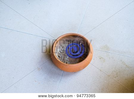 A Mosquito Coil On The Floor
