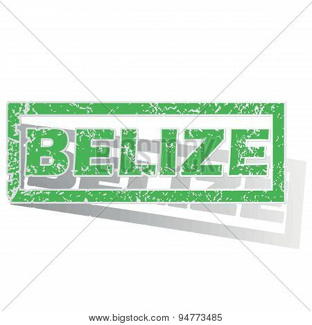 Green outlined Belize stamp