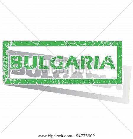 Green outlined Bulgaria stamp