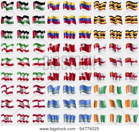 Palestine, Venezuela, Uganda, Iran, Tonga, Sark, French Polynesia, Aruba, Core D'ivoire. Big Set