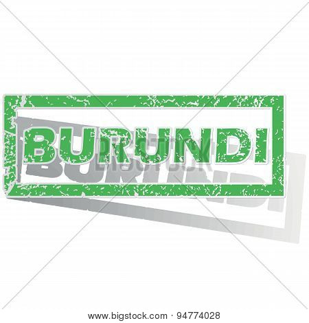 Green outlined Burundi stamp