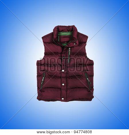 Vest against the gradient background