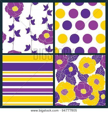 4 Seamless Patterns