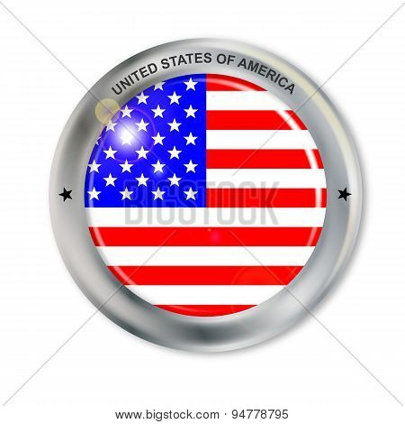 Unites States Of America Button