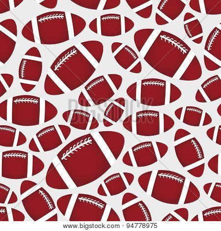 American Football Balls Seamless Color Sport Pattern Eps10