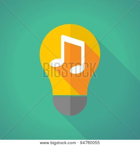 Long Shadow Light Bulb With A Note Music