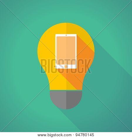 Long Shadow Light Bulb With A Smart Phone