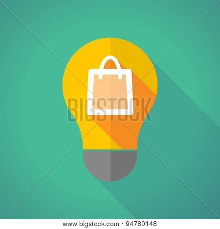 Long Shadow Light Bulb With A Shopping Bag