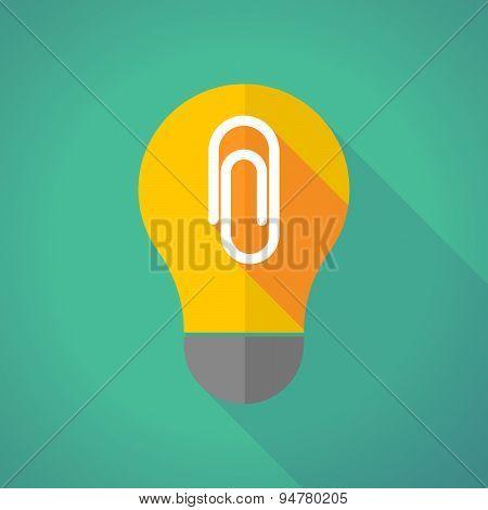 Long Shadow Light Bulb With A Clip