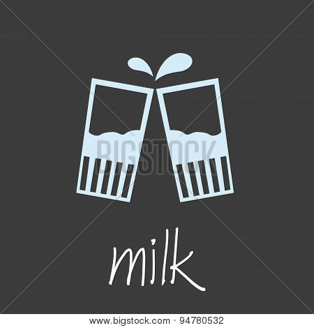 Drink Milk Design Banner And Background Eps10