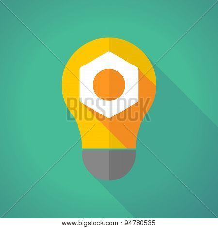Long Shadow Light Bulb With A Nut