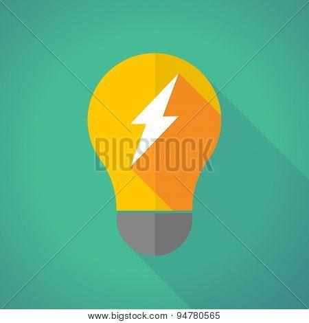 Long Shadow Light Bulb With A Lightning