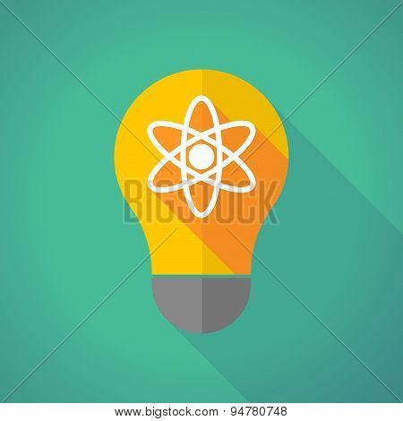 Long Shadow Light Bulb With An Atom