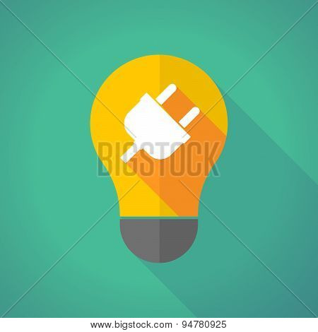 Long Shadow Light Bulb With A Plug