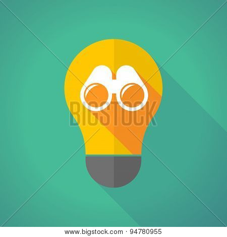 Long Shadow Light Bulb With A Binoculars