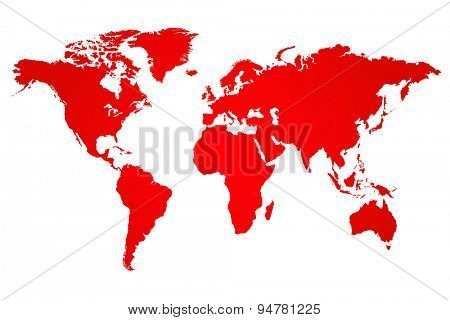 Red World Map Illustration