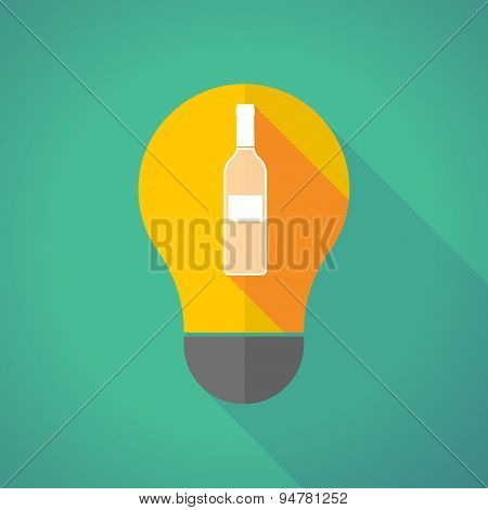 Long Shadow Light Bulb With A Bottle Of Wine