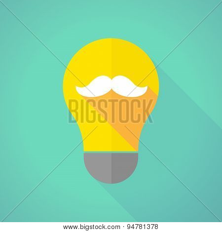 Long Shadow Light Bulb With A Moustache