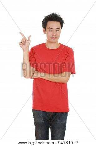 Man Think Of Idea With T-shirt