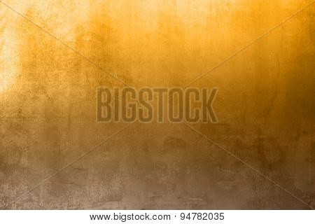 Brown yellow background gradient in grunge style with light effect