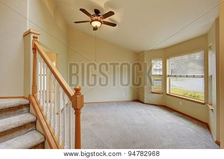 Traditional Entry Way With Stairs.