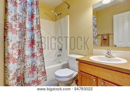 Traditional Bathroom With Shower Bath.