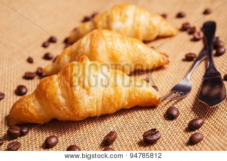 French Croissants Are Served Daily For Breakfast.