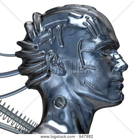 Mechanical Robot Head