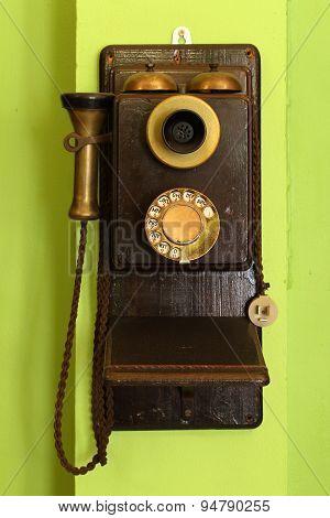 Classic Wood Telephone Hanging